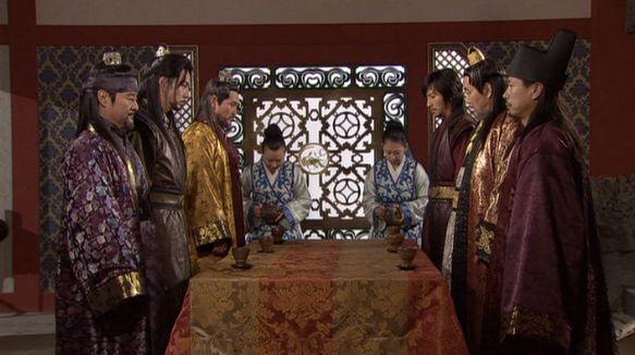 風3402 ムヒュルに交渉を持ちかけるテソ王 テジャ川北部とテサン城を渡せば、南蘇城の兵を撤収させてやろう