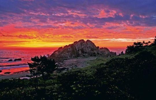 種差海岸の夜明け