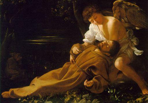 カラヴァッジォ作(アッシジ聖痕を受ける聖フランチェスコ
