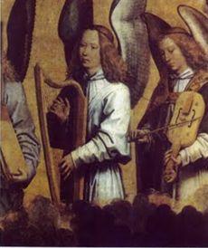 バロックハープを弾く天使より