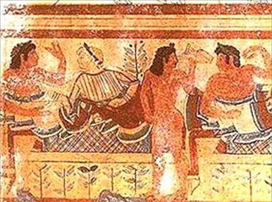 本格的にワイン作りが始まったのは、紀元前800年頃。イタリア中部の古代エトルリア人の手によるものです
