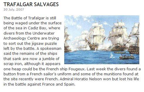 トラファルガー海戦