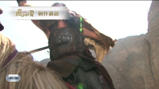 馬上でのキサン族長との一騎打ち