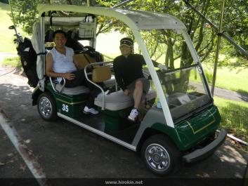 電通の新井さんとゴルフ