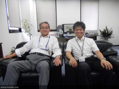 山崎社長と岩佐